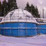 雪のドームハウス